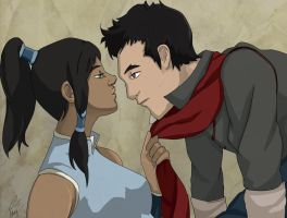 Korra and Mako by PapilioPulvereos