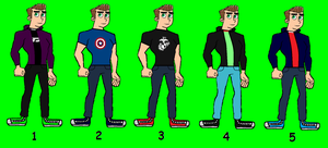 Jacob Collins's Outfits. by LooneyAces