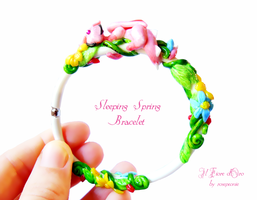 Sleeping spring - bracelet 2 by rosepeonie