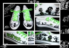 Zombies 4 Shoes by mantarosan