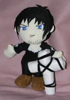 Wolfwood plushie with cross by WampusDragon