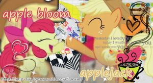 apple bloom and applejack by gadoo12