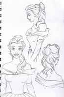 Belle character sketches by Nonsensicle