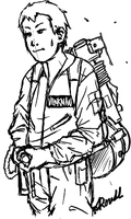 Dr. Peter Venkman Sketched by Shikalee
