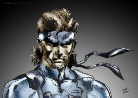 Solid Snake (Color) by KeithMeyerArt