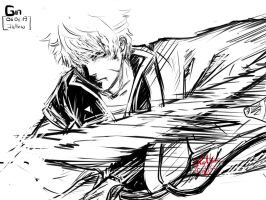 Gintoki fan art by hollowcoffin