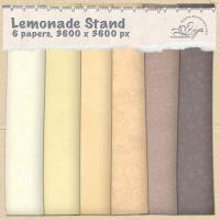 Lemonade Stand paper pack by Eijaite