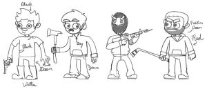 Dayz Animation Sketches by myhelmethazstickers
