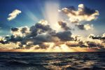 Sunset Over Atlantic Ocean by caie143