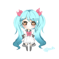 Chibi commission for MissEvette by Miyee