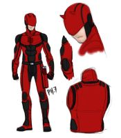 Daredevil Redesign by pencilHeadno7