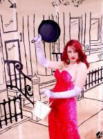 Jessica Rabbit - Frying Pan by geoectomy