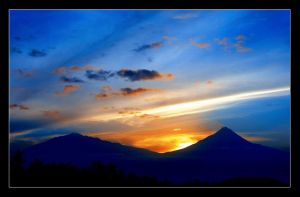 Merapi and Merbabu Mountain by ferrysetiawan