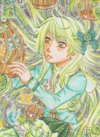Want to be free ACEO 124 by Enatis