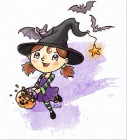 Halloween Witch by pokketmowse