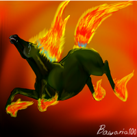 Fire horse (Gimp) by Bawaria
