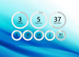 Rings System Clock for xwidget by jimking