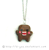 Cute domo necklace by TokiCrafts