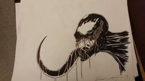 Venom sketch by ShortBusStudios