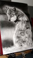 Looking Back Wolf by AmBr0
