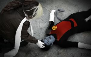 Rogue and Nightcrawler - Dead by FioreSofen