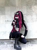 cyber-goth style girl (-mistabys-) by mistabys