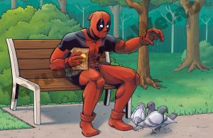 Deadpool at the Park by Taylor-the-Weird