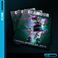 Glamour Club Flyer by SALVADORCHARLIE