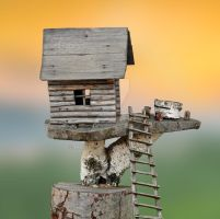 Miniature wooden house by maria410
