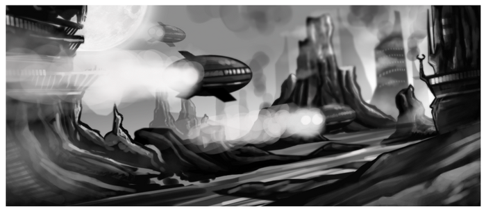 racing ships by Kendol