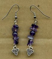 Triskel Amethyst Ear Rings by PurpleGoddess