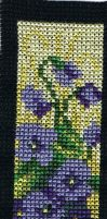 Bookmark #3 - violets by aninreh