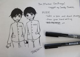 Pen/Marker Challenge by Kyoukouo