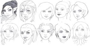 Dragon Age doodles by Lorrain