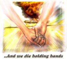 And We Die Holding Hands color by jonathonraist