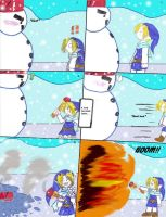 Link VS. A Snowman by MagicianofBlackchaos
