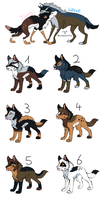 Pups from Yumi and Wave by LizzysAdopts