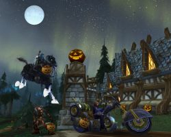 Warcraft Trick-or-Treating by sweetcivic