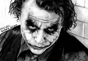 Heath Ledger as Joker by GustavodeAndrade