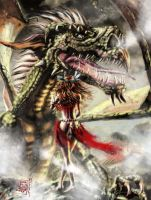The Ancient Dragon Mother by Musashi-son