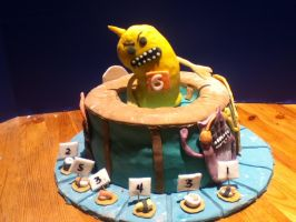 Sushi Monster Cake by MomIsMean