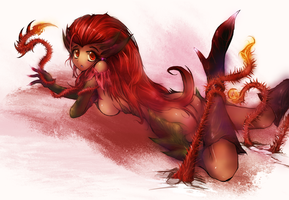 Zyra - league of legends by dedor