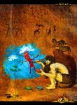 Cave Painter by halil-art