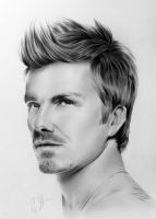 David Beckham Portrait by ChrisFitzpatrick