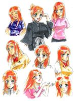Orihime Evolution by tariah23