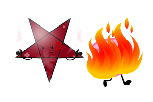 Pentagram Burning Hat by Phoenix-Leafy