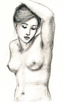 Nude with Raised Arm by dashinvaine