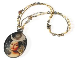 Steampunk Tarot: Empress Necklace by JLHilton