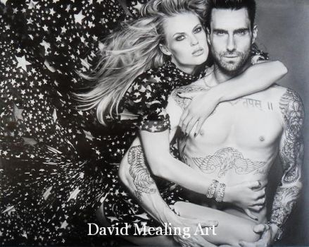 Adam Levine and Anne Vyalitsyna Dm by Drawing-Dude-Dave