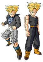Trunks GT y Future Trunks SSJ by theothersmen